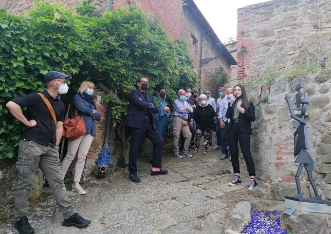 A Montegonzi nuovi omaggi per 'Cino':  il borgo è ancora più bello