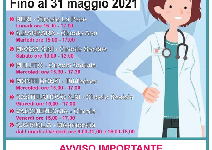 Prorogato fino a fine maggio a Cavriglia il servizio gratuito di prenotazione online dei vaccini anti covid-19