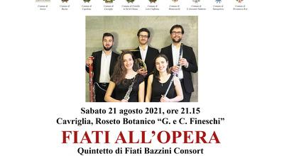 """""""Terre d'Arezzo Music Festival"""", appuntamento per sabato 21 agosto al roseto """"Fineschi"""" con il quintetto di fiati Bazzini Consort"""